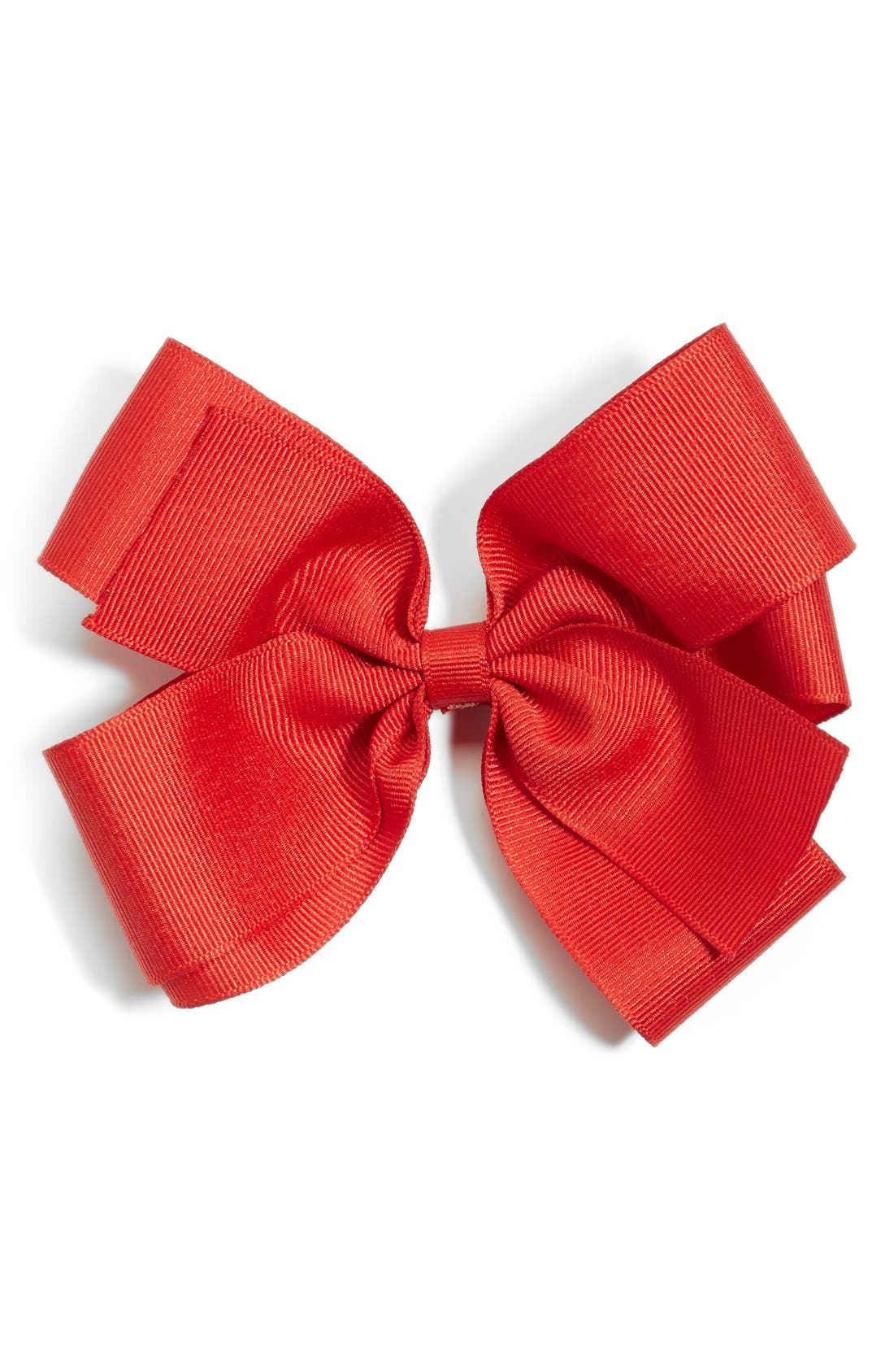 Grosgrain Bow Clip,                             Main thumbnail 1, color,                             Red