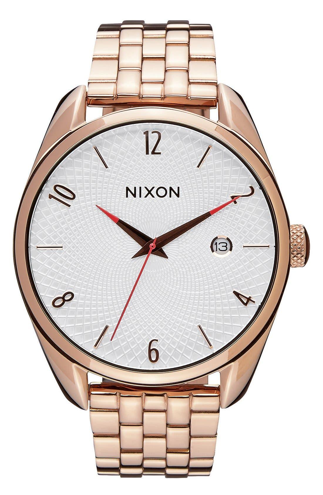 Alternate Image 1 Selected - Nixon 'The Bullet' Bracelet Watch, 38mm