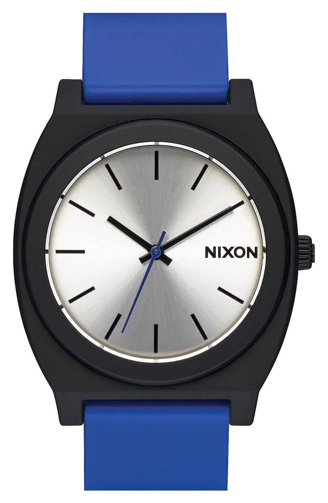 Main Image - Nixon 'The Time Teller' Paisley Print Watch, 40mm
