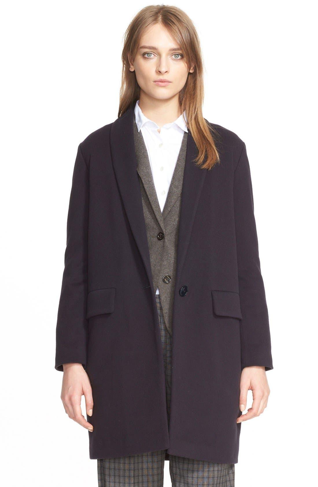 Main Image - Eleventy Houndstooth Wool Coat