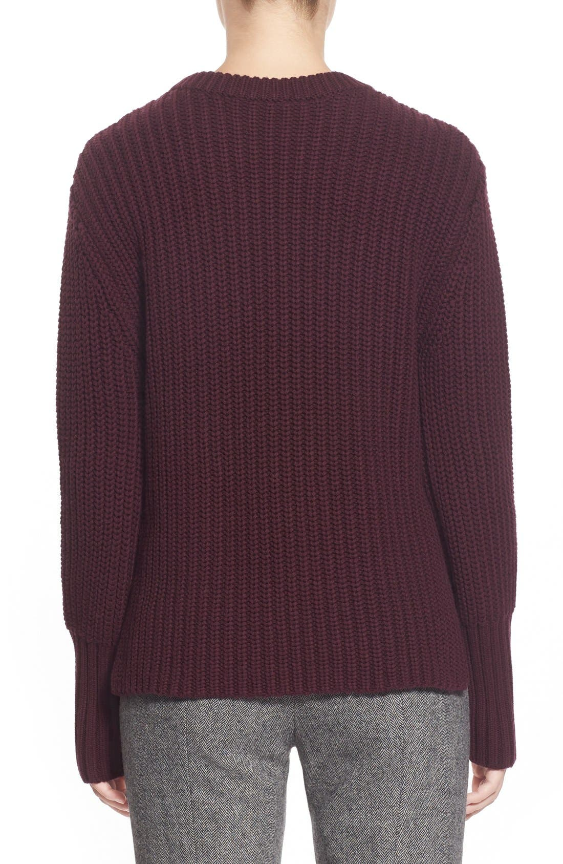 Alternate Image 2  - Pink Tartan Tubular Cuff Wool & CottonSweater