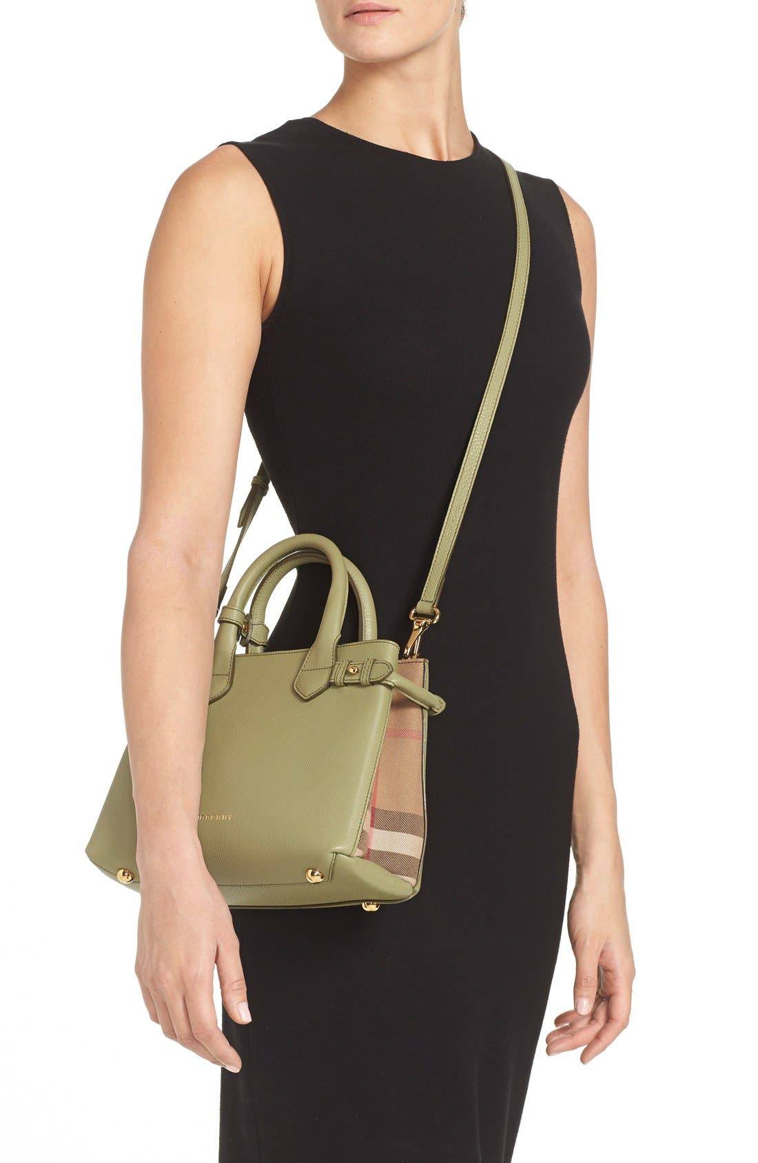 'Small Banner' Leather Tote,                             Alternate thumbnail 2, color,                             Pale Pistachio Green