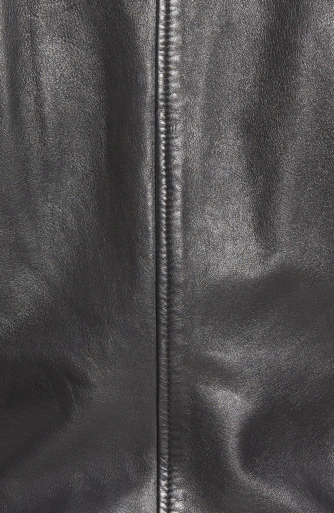 Alternate Image 5  - Bernardo Zip Front Leather Jacket (Regular & Petite)