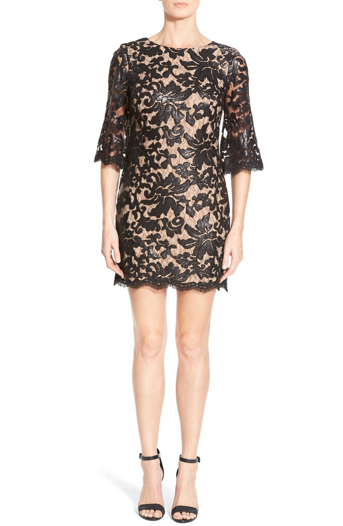 Alternate Image 3  - Dress the Population Melody Sequin Lace Dress