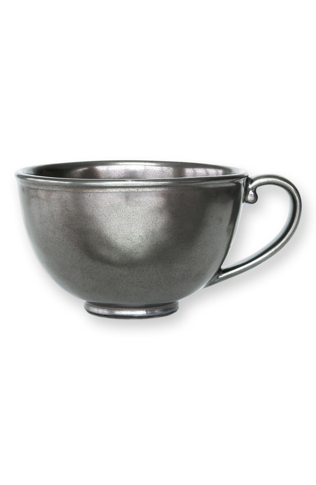 Pewter Stoneware Tea/Coffee Mug,                         Main,                         color, Pewter