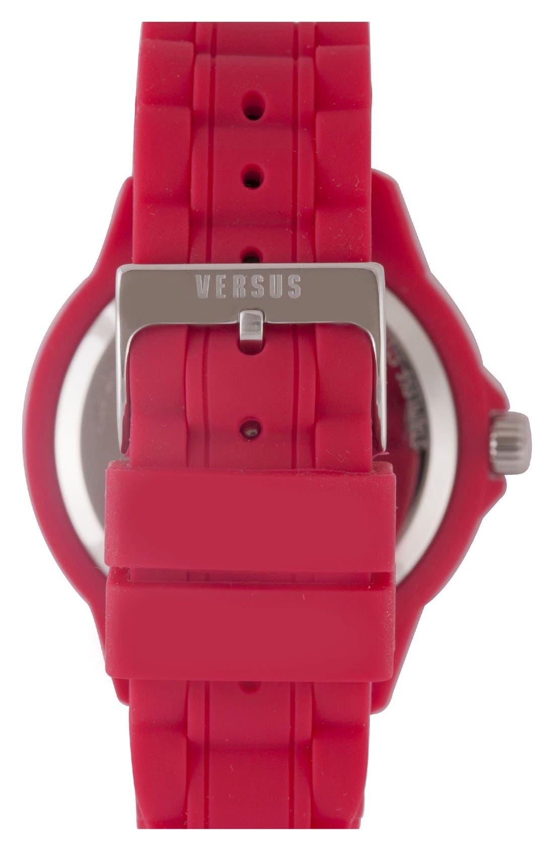 Alternate Image 2  - VERSUS by Versace'Tokyo' Rubber Strap Watch, 42mm