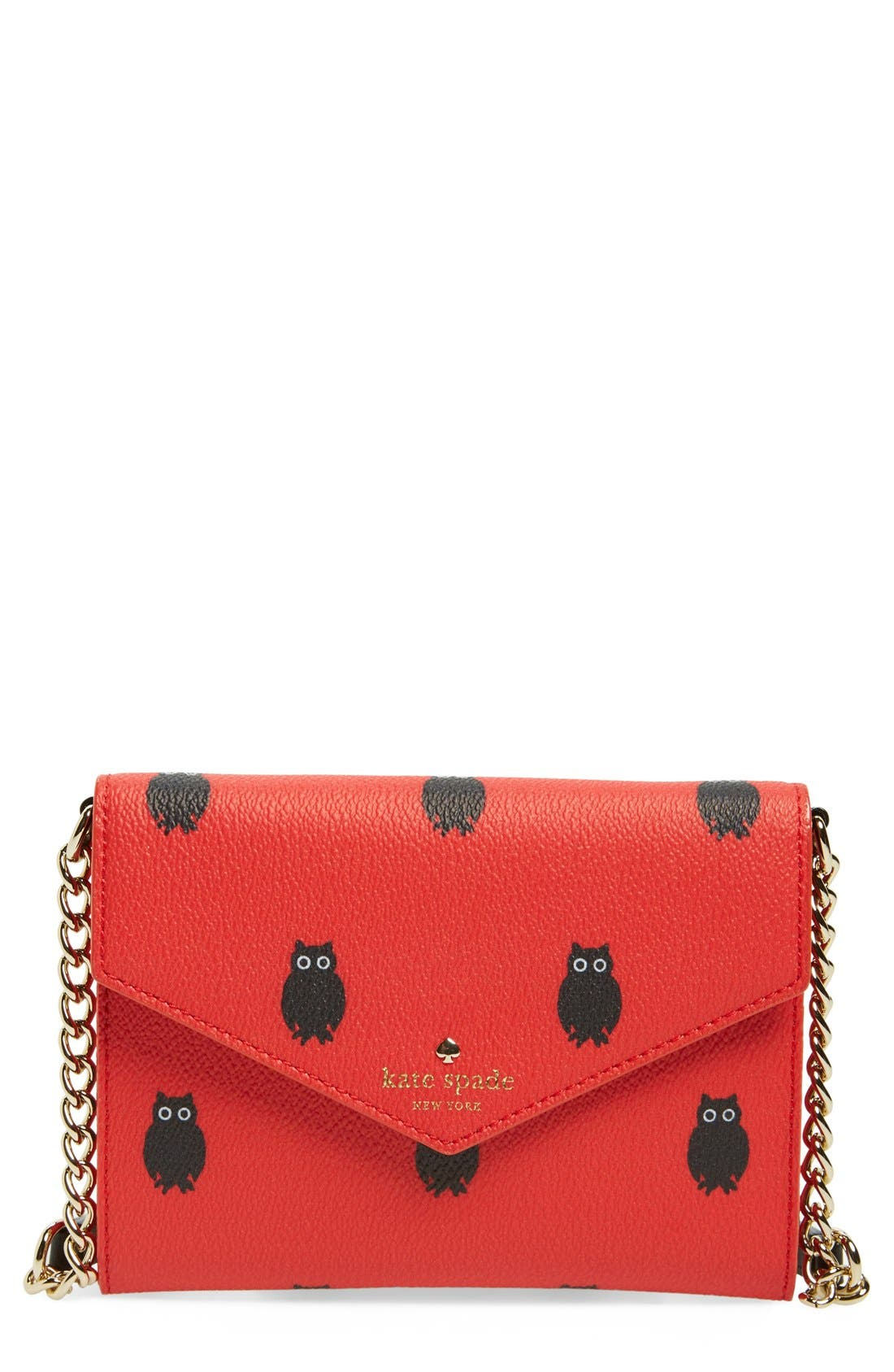 Main Image - kate spade new york 'hawthorne lane owls monday' crossbody clutch (Nordstrom Exclusive)