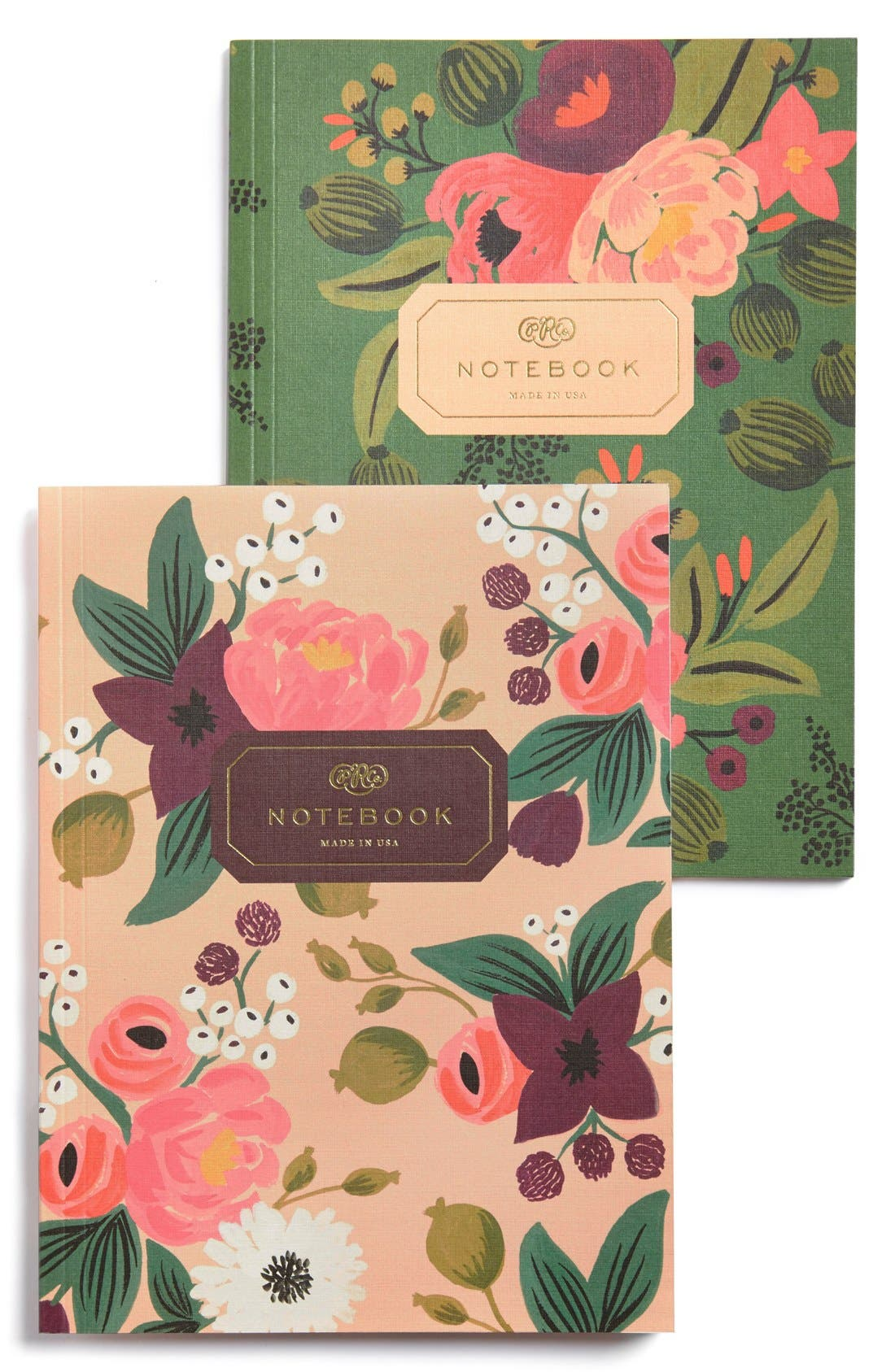 Main Image - Rifle Paper Co. 'Vintage Blossoms' Notebooks (Set of 2)