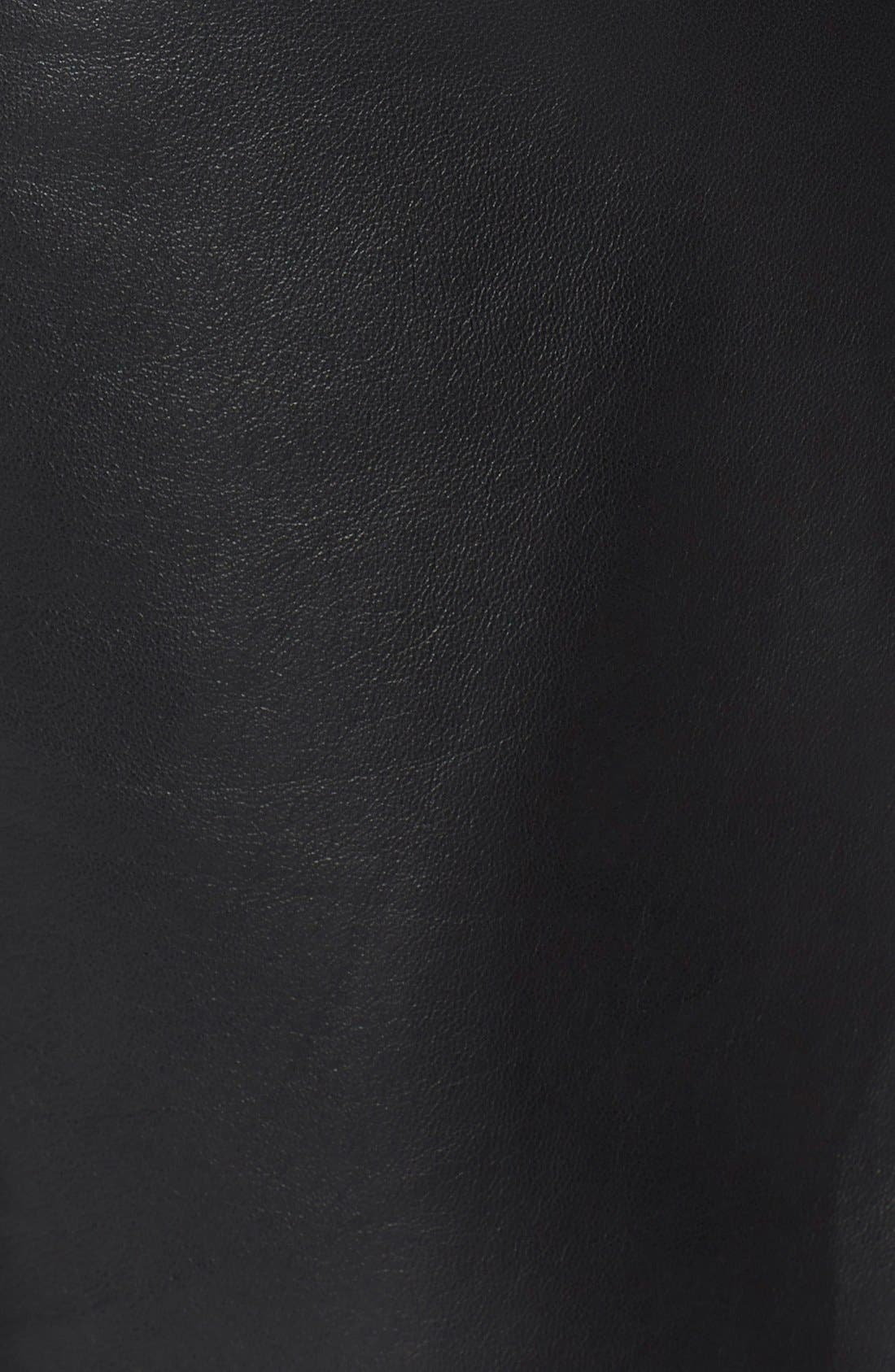 Alternate Image 3  - Helmut Lang Crop Leather Pants