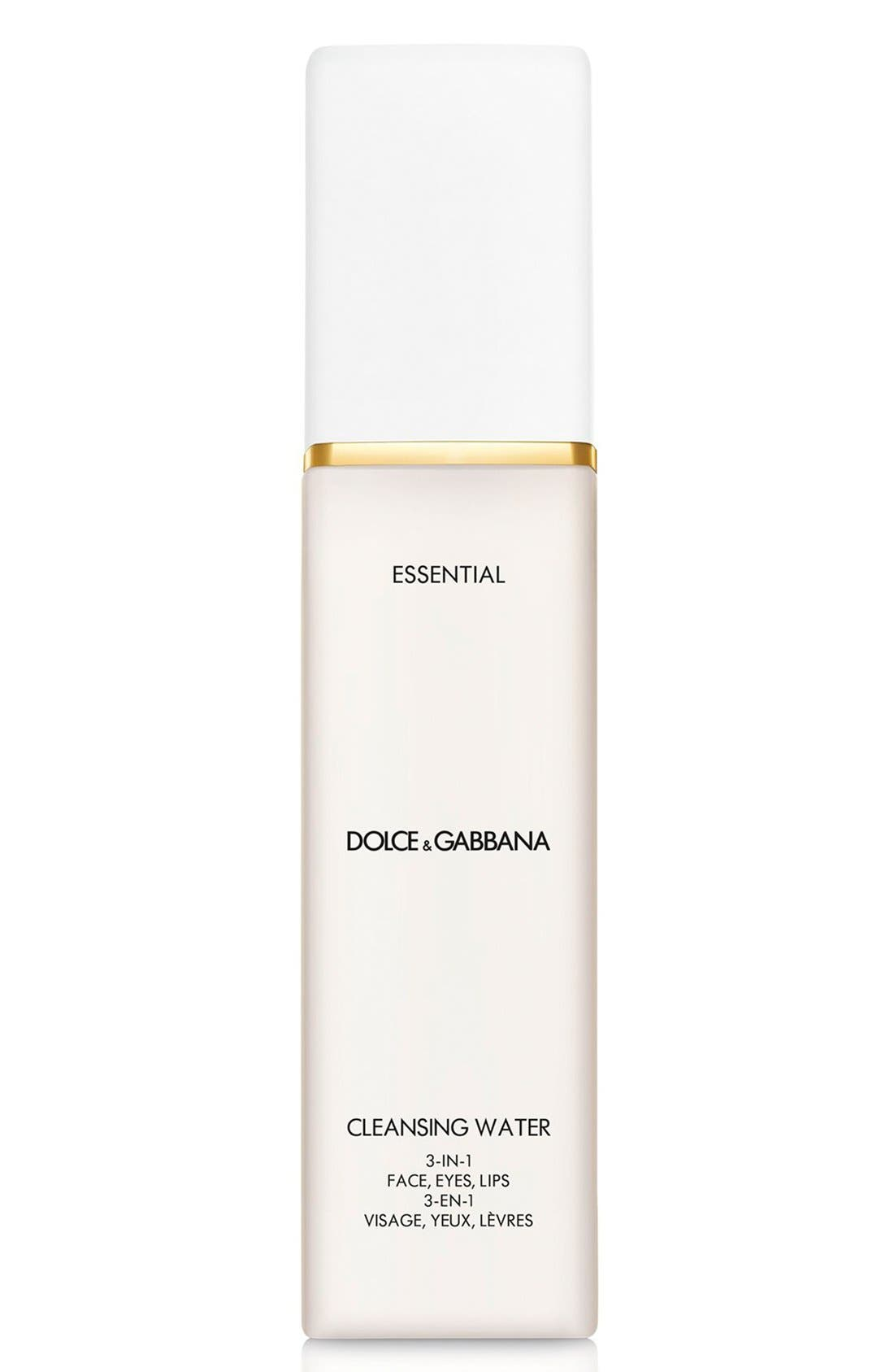 Dolce&Gabbana Beauty 'Essential' Cleansing Water 3-in-1 Face, Eyes, Lips