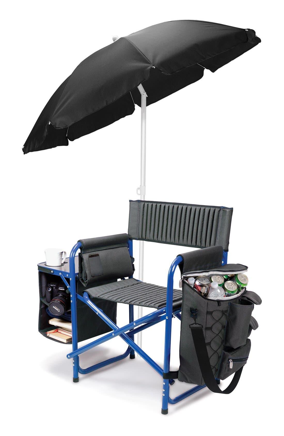 'Fusion' Lawn Chair,                             Alternate thumbnail 2, color,                             Blue