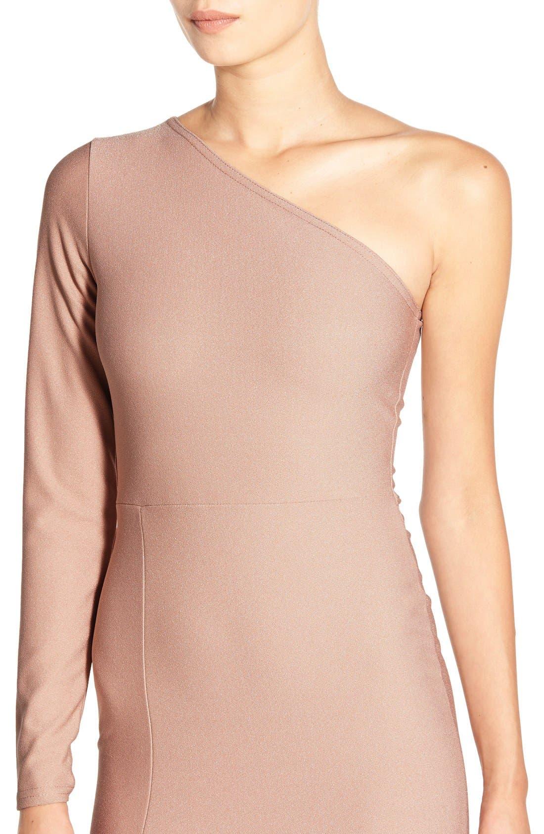 Alternate Image 4  - MissguidedOne-Shoulder Body-Con Dress