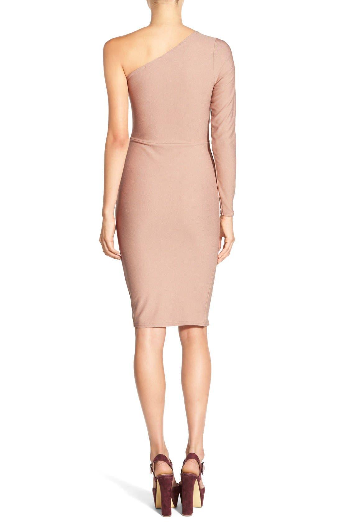Alternate Image 2  - MissguidedOne-Shoulder Body-Con Dress