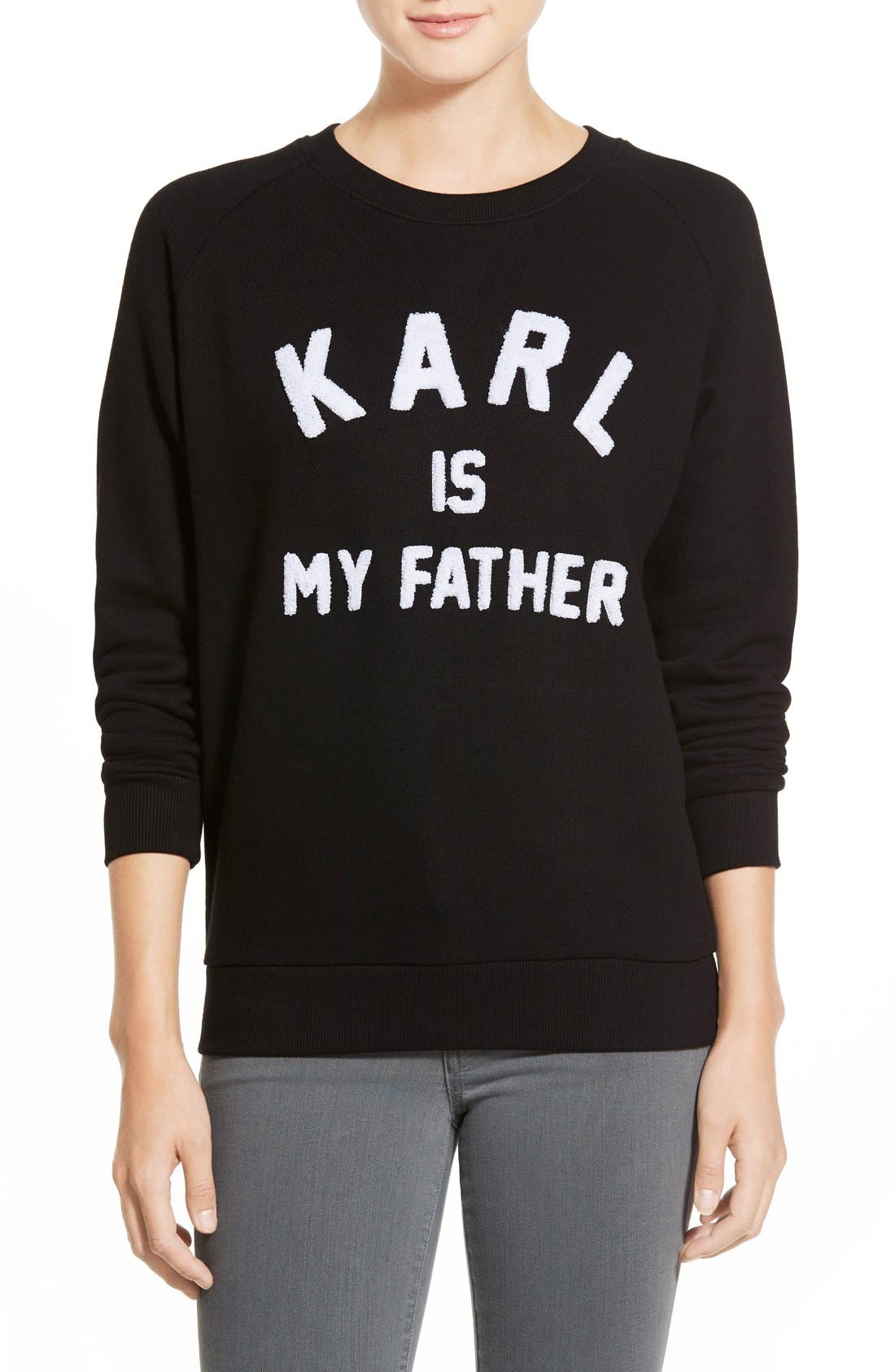 Alternate Image 1 Selected - ELEVENPARIS 'Karl is My Father' Fleece Pullover