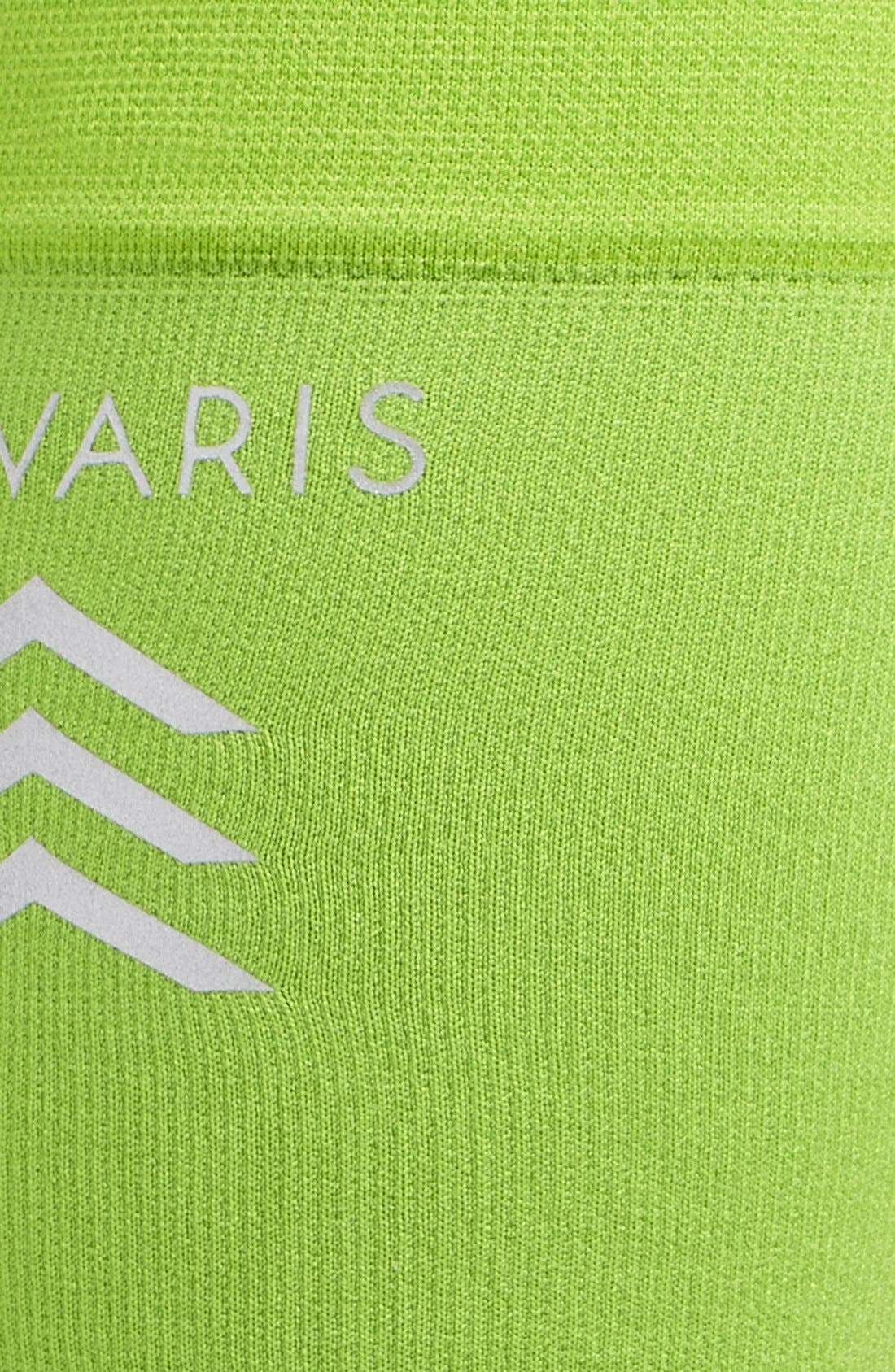 'Sports' Graduated Compression Performance Calf Sleeve,                             Alternate thumbnail 3, color,                             Lime