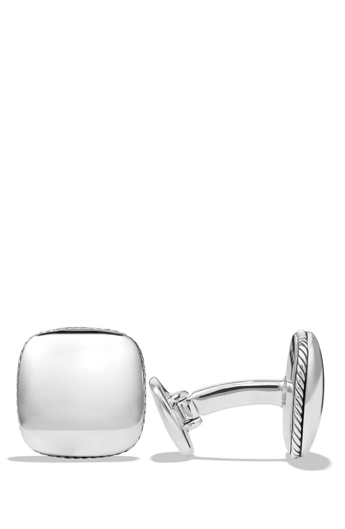 'Streamline' Cuff links,                         Main,                         color, Silver