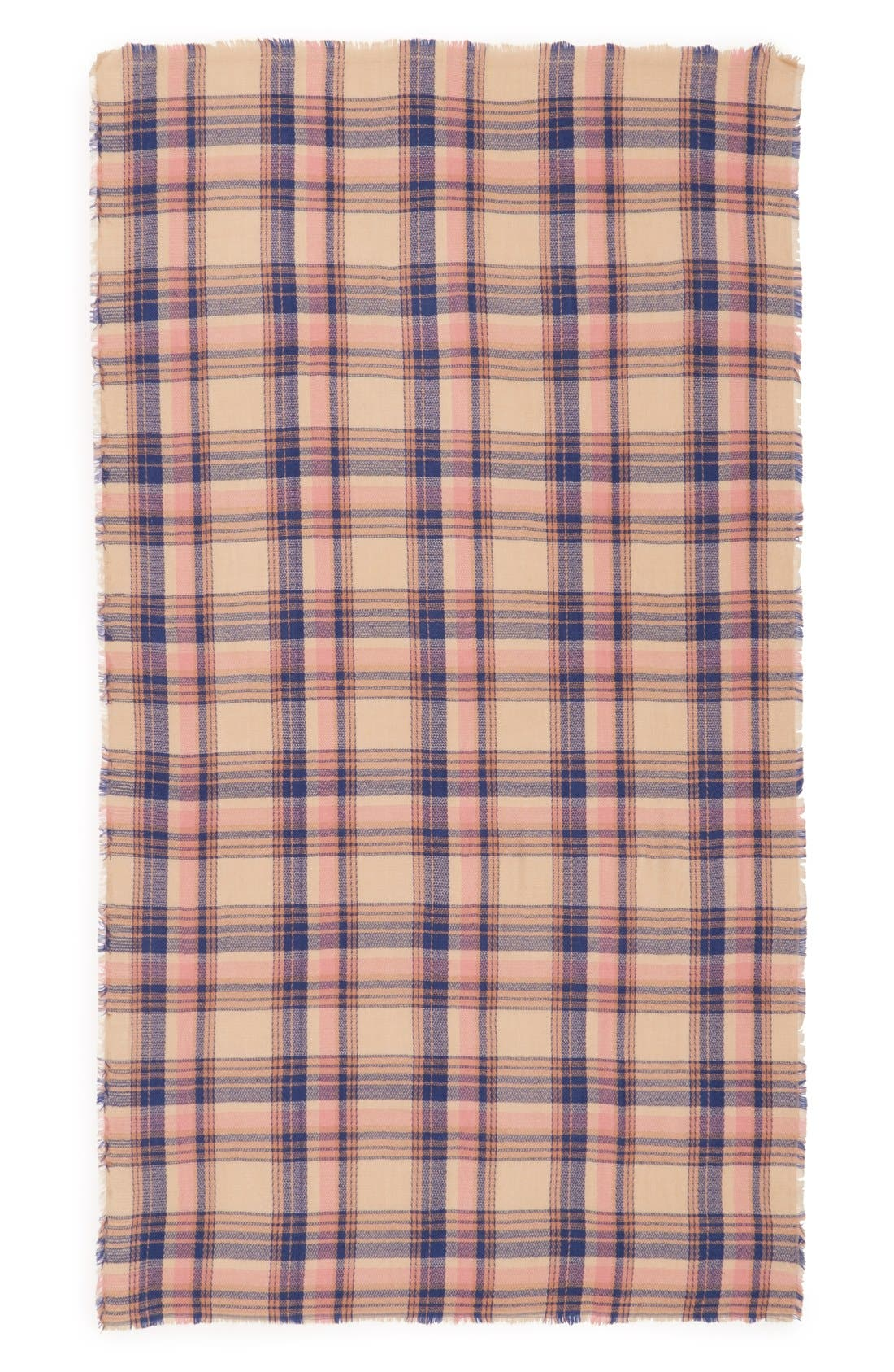 Alternate Image 2  - BP. Pretty Plaid Oblong Scarf