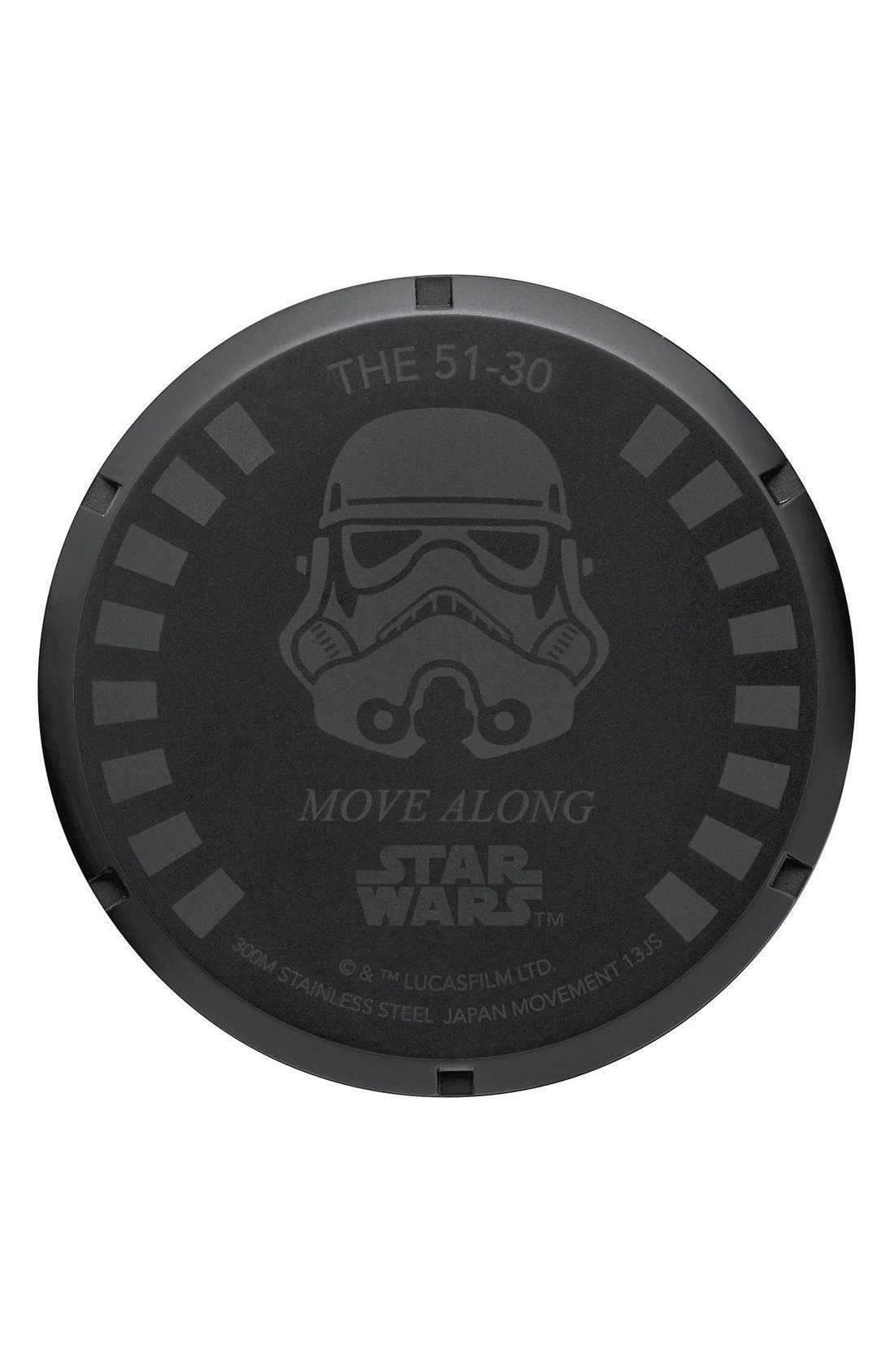 Alternate Image 4  - Nixon 'Star Wars™ - The 51-30 Stormtrooper' Bracelet Watch, 51mm