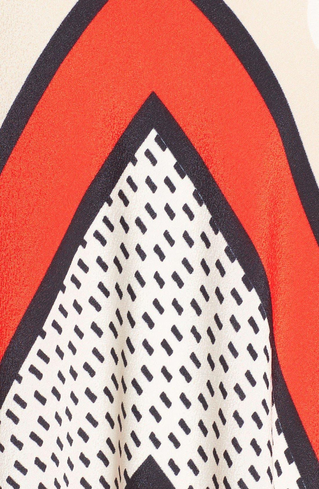 Alternate Image 6  - Eliza J Scarf Print Crêpe de Chine Fit & Flare Maxi Dress (Regular & Petite)