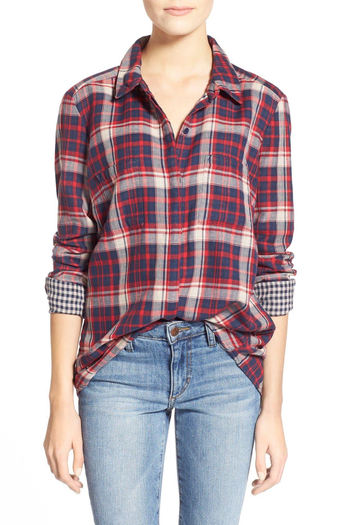 Alternate Image 1 Selected - Splendid'Hunter' Plaid Shirt