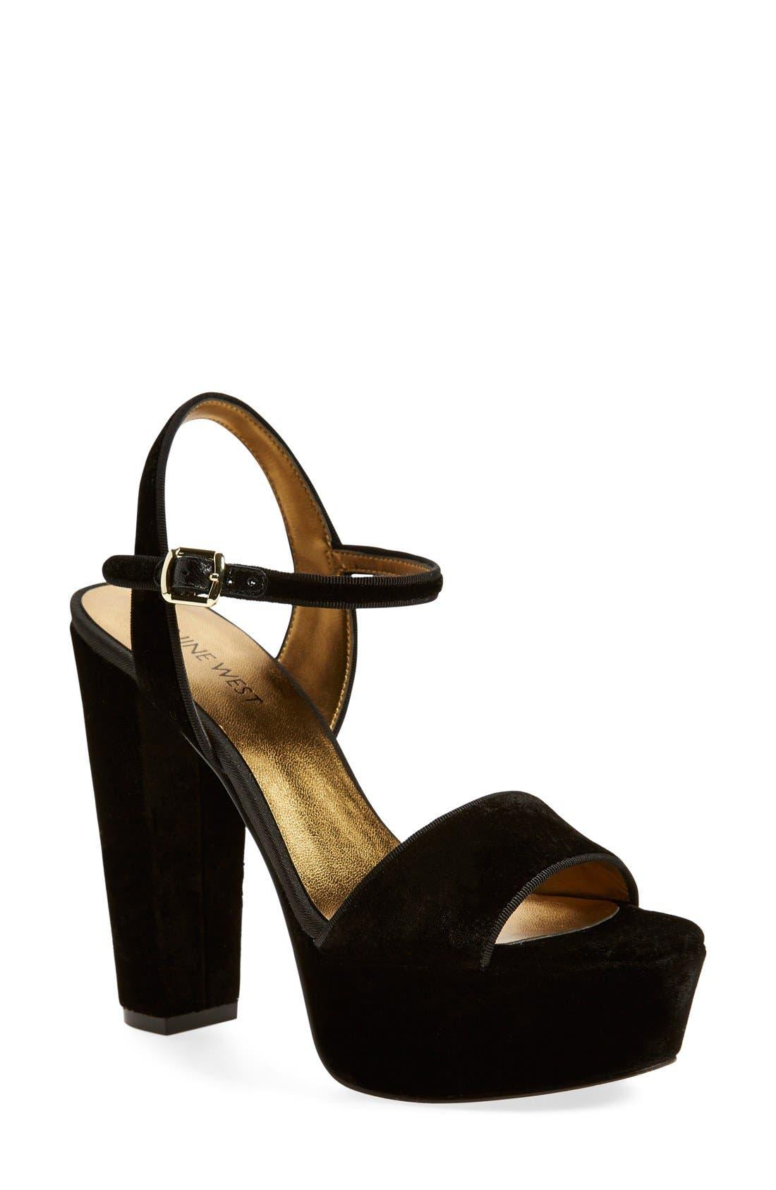 Alternate Image 1 Selected - Nine West 'Carnation' Platform Sandal (Women)