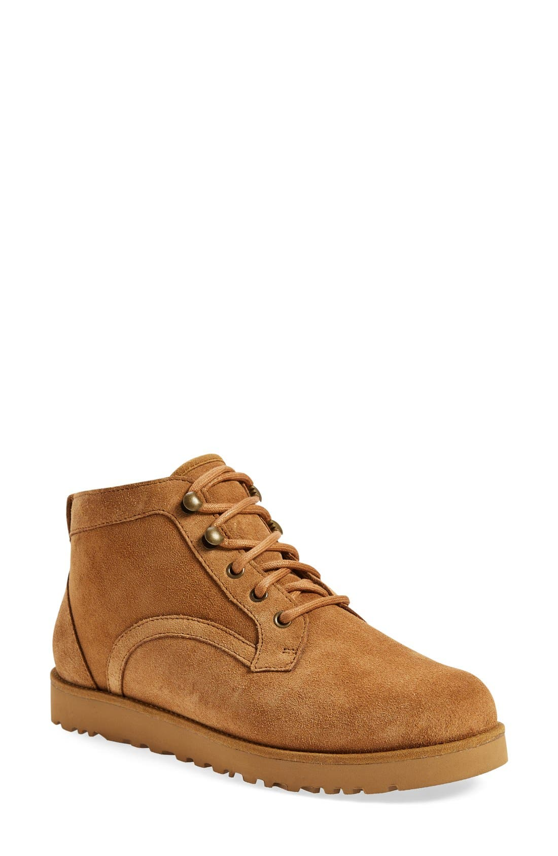Bethany - Classic Slim<sup>™</sup> Water Resistant Chukka Boot,                             Main thumbnail 1, color,                             Chestnut Suede