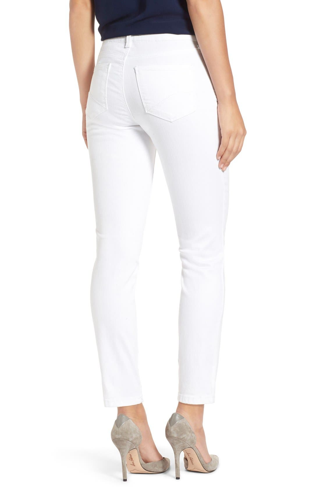 Alternate Image 2  - NYDJ Clarissa Colored Stretch Ankle Skinny Jeans (Regular & Petite)
