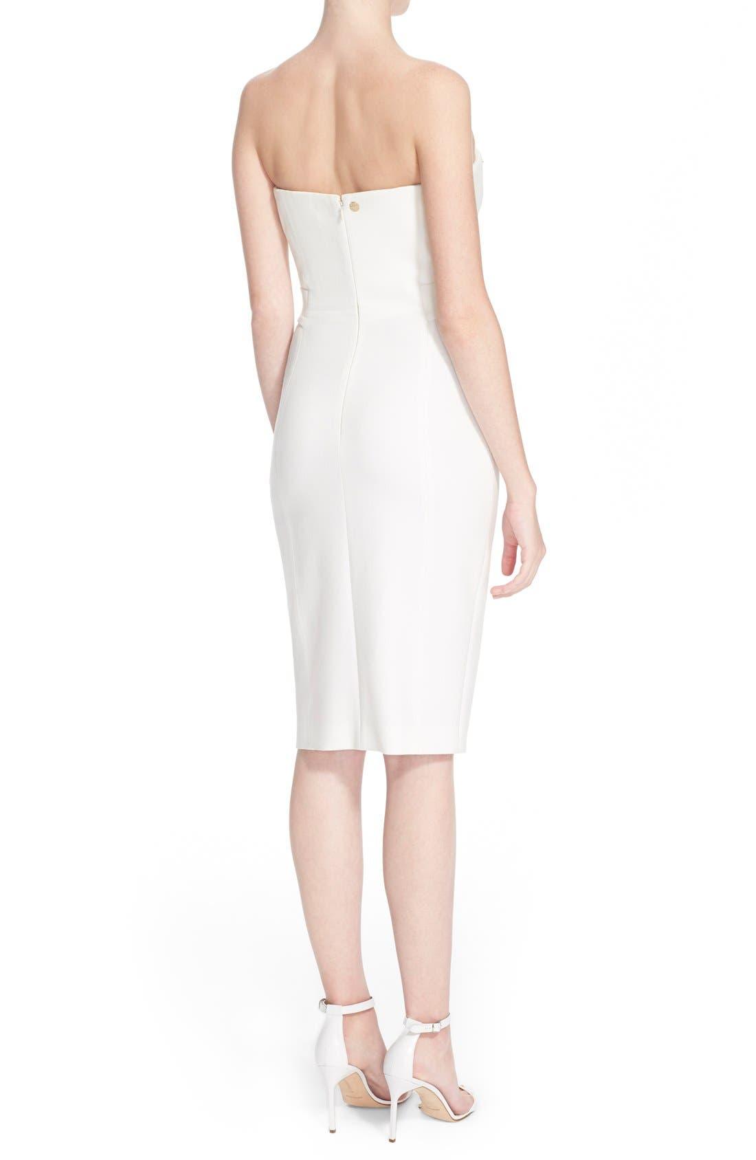 Alternate Image 2  - Versace Collection Studded Strapless Sheath Dress