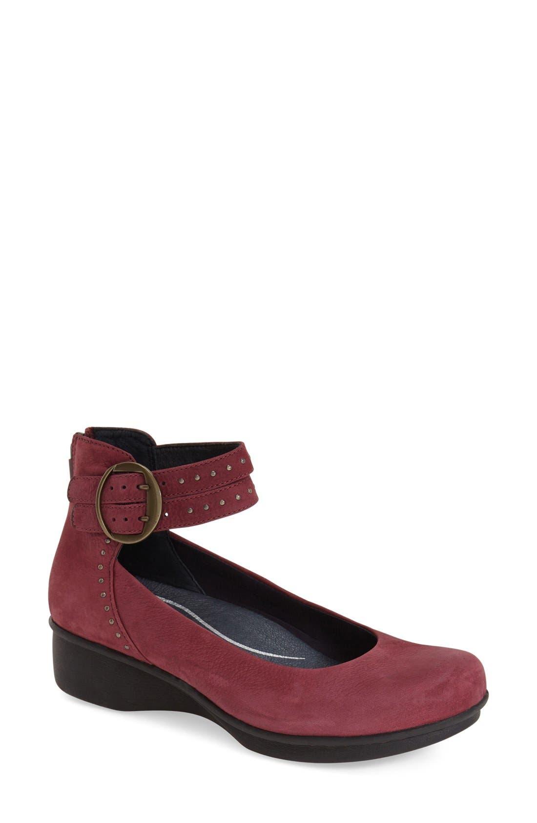 Main Image - Dansko 'Lois' Ankle Strap Wedge ...