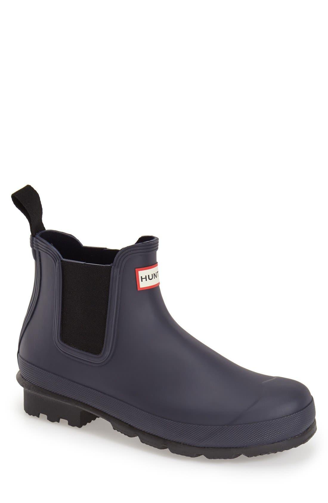 Hunter 'Original' WaterproofChelsea Rain Boot (Men)