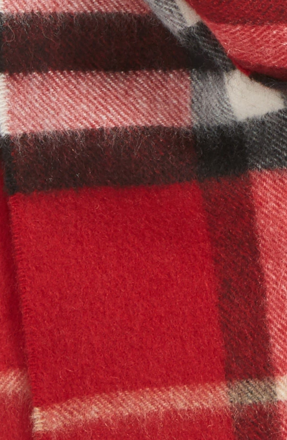 Alternate Image 2  - Burberry Giant Check Cashmere Scarf (Big Girls)