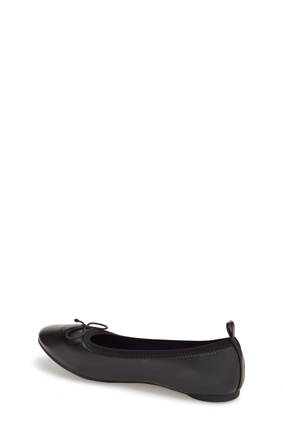 'Copy Tap' Metallic Ballet Flat,                             Alternate thumbnail 3, color,                             Black