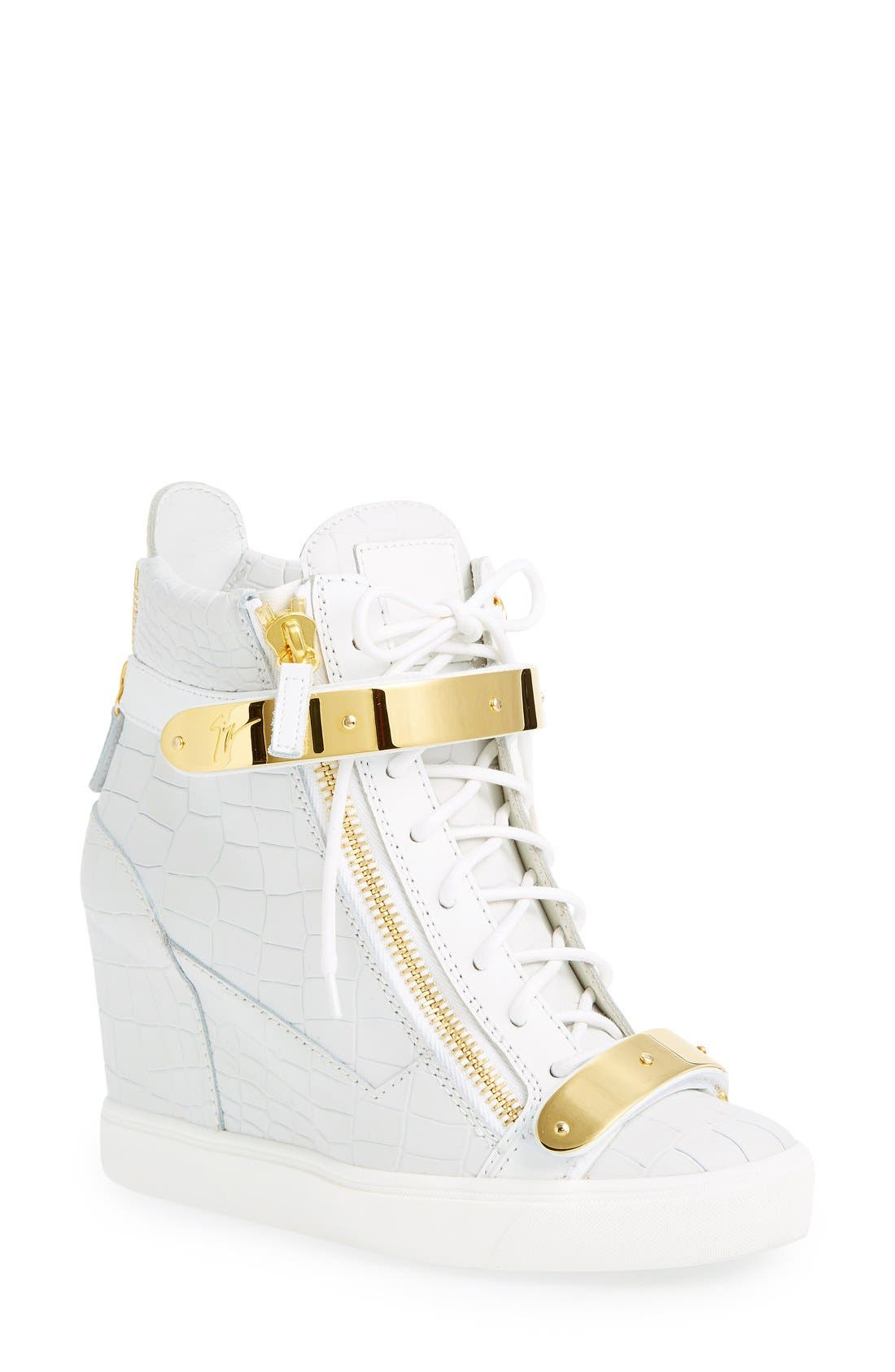 Alternate Image 1 Selected - Giuseppe Zanotti'Lorenz' Wedge Sneaker (Women)
