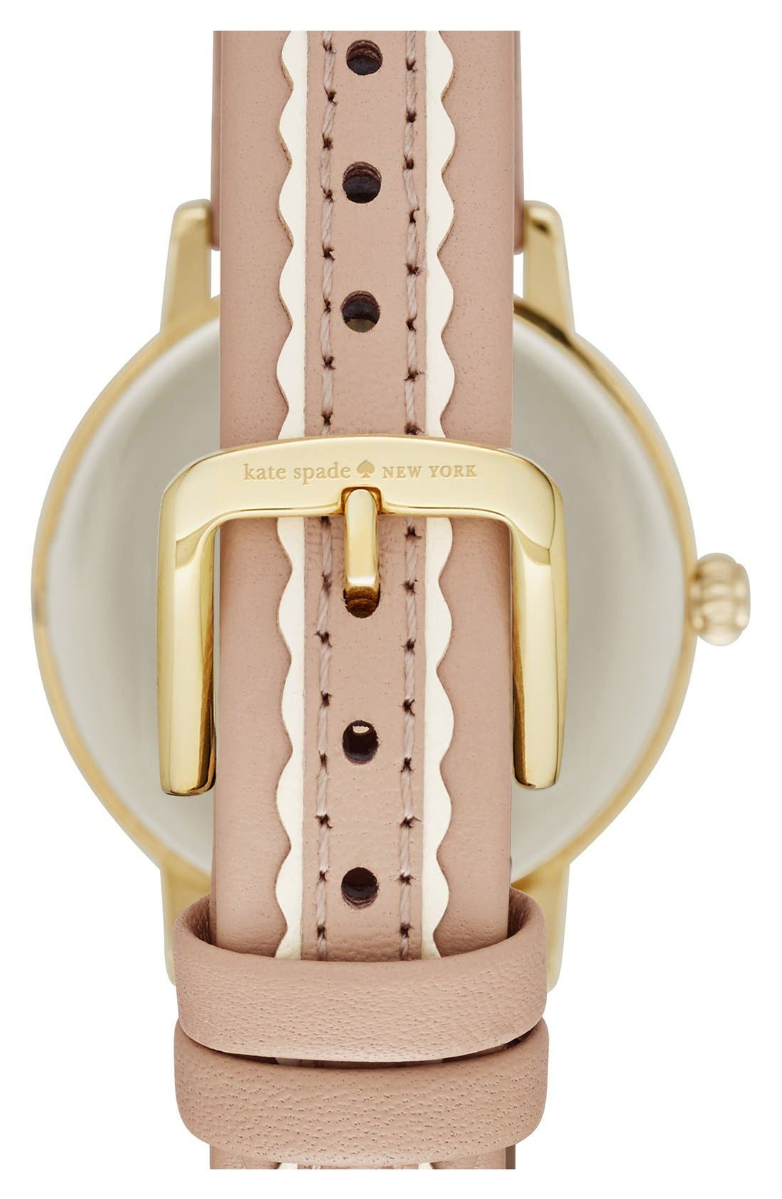 Alternate Image 2  - kate spade new york 'metro' leather strap watch, 34mm
