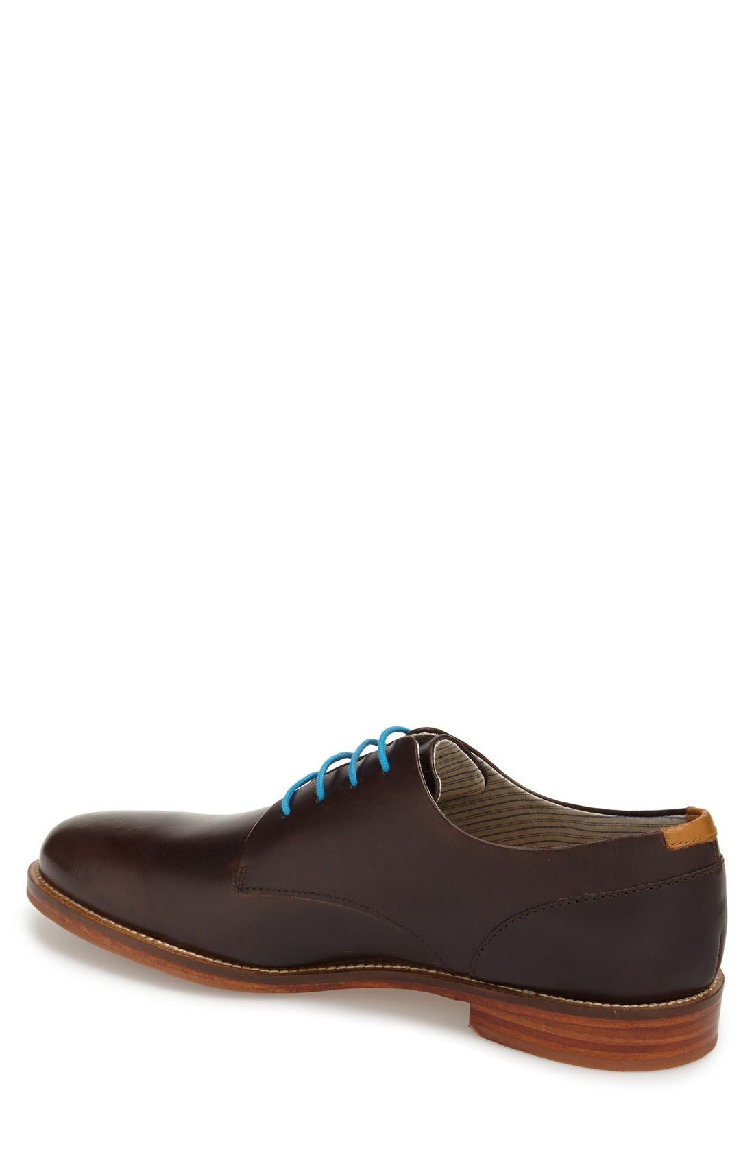 'William Plus' Plain Toe Derby,                             Alternate thumbnail 2, color,                             Dark Brown