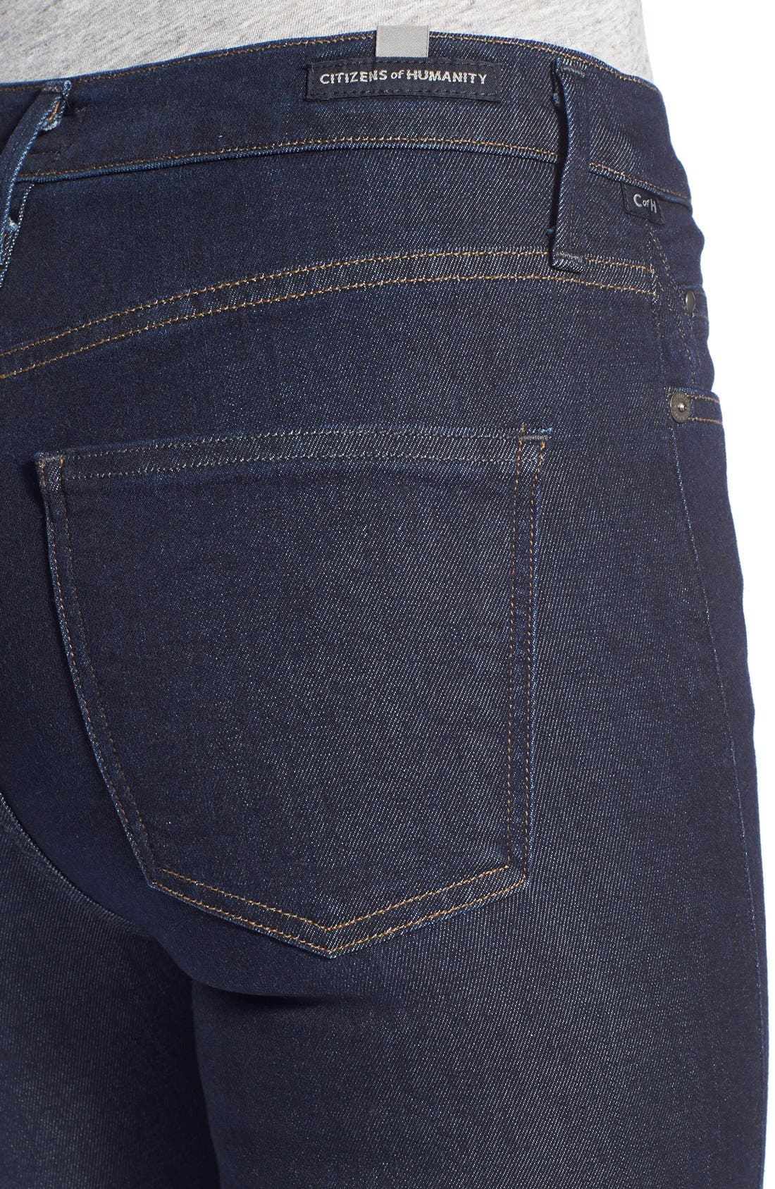 Alternate Image 4  - Citizens of Humanity 'Sculpt - Rocket' High Rise Skinny Jeans (Clean Blue)