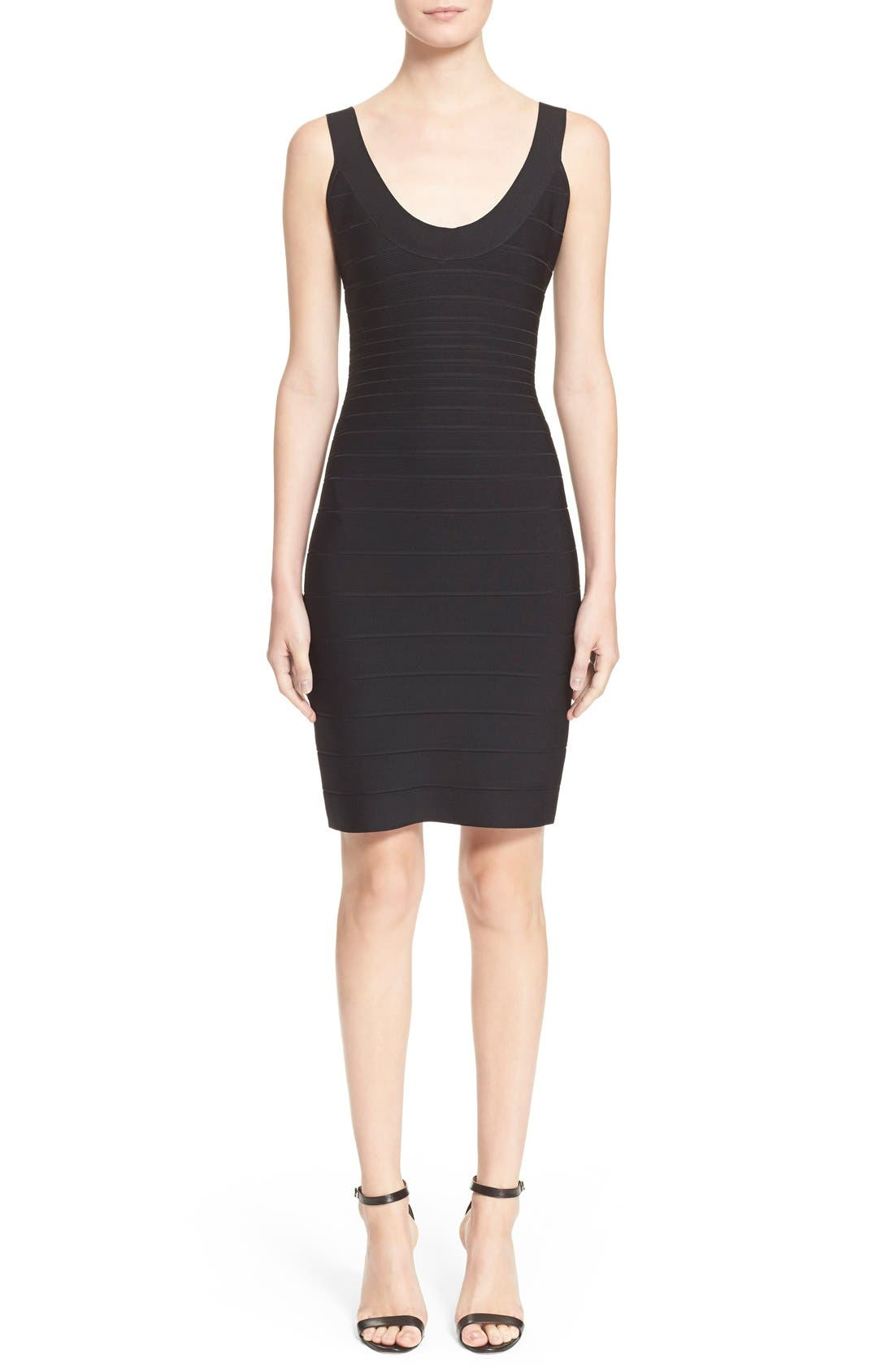 'Sydney' U-Neck Bandage Dress,                         Main,                         color, Black