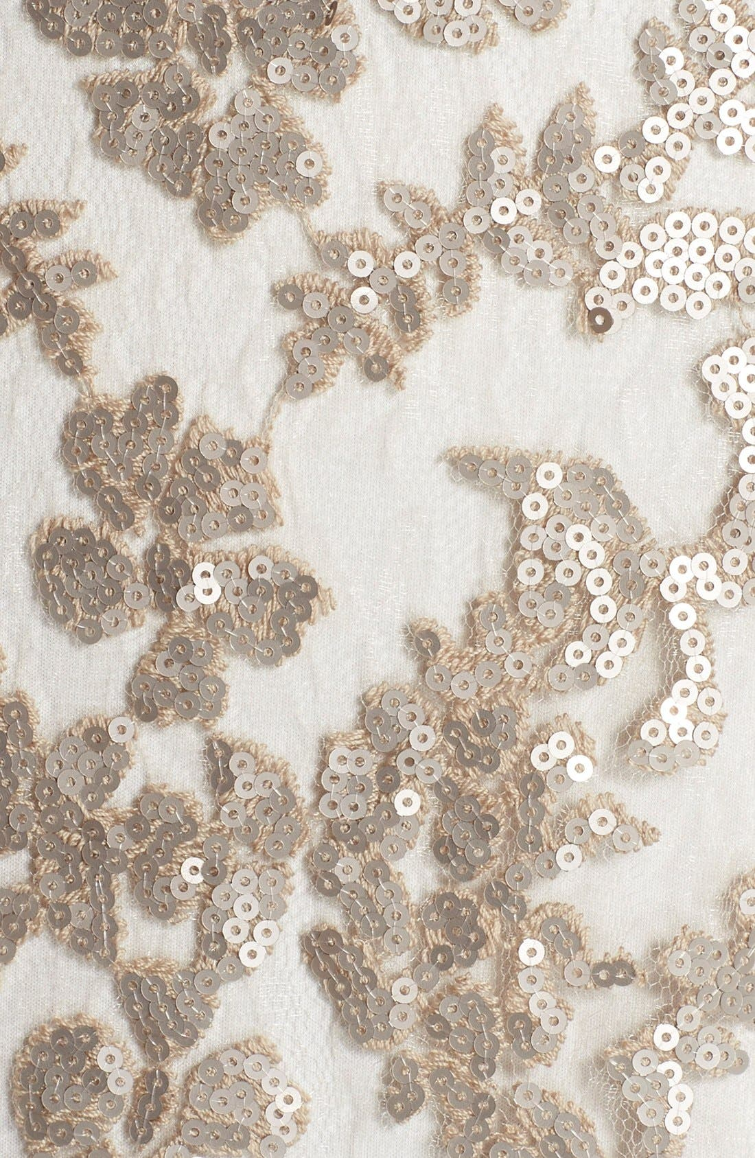 Alternate Image 5  - Tadashi Shoji Sequin Lace Blouson Gown (Regular & Petite)