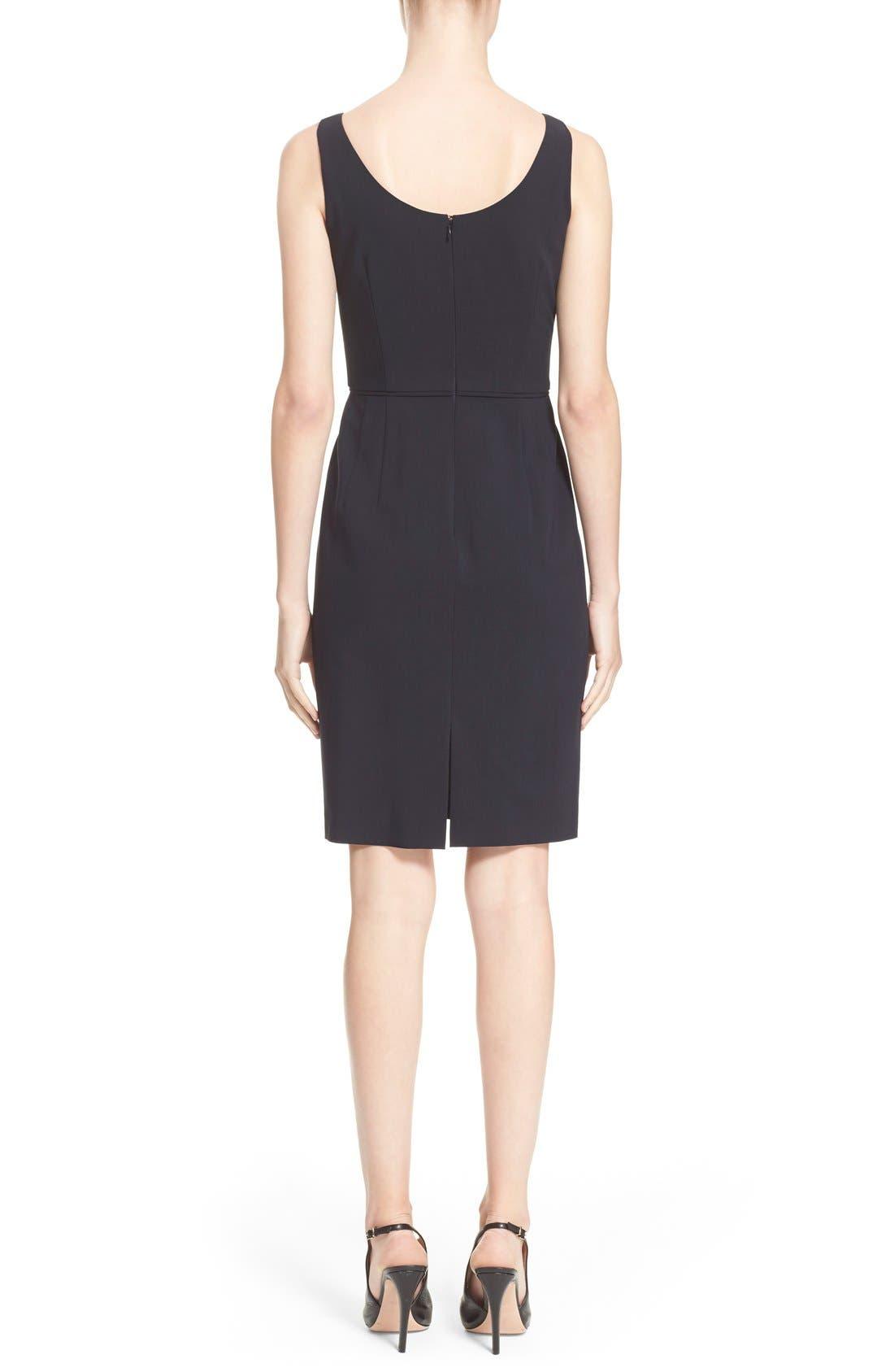 Alternate Image 2  - Armani Collezioni Featherweight Wool Dress