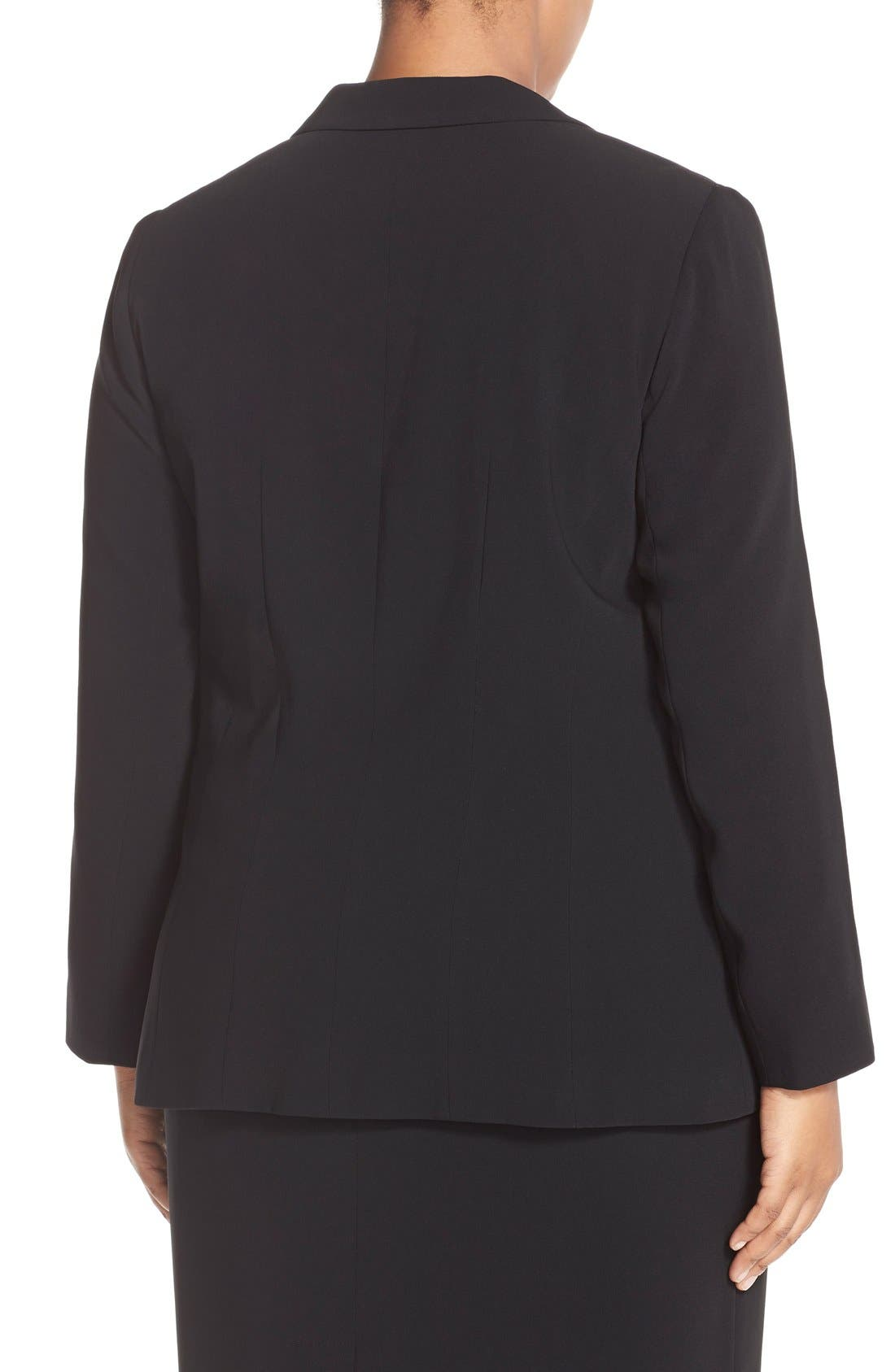 Peak Lapel Suit Jacket,                             Alternate thumbnail 2, color,                             Black