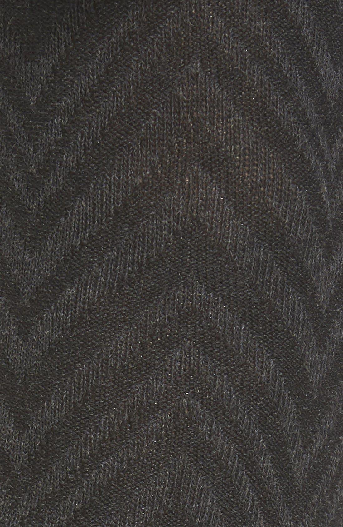 Alternate Image 2  - Hue Chevron Stripe Tights with Stirrup Straps