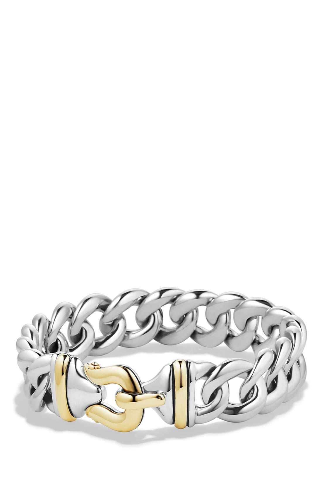 'Cable Buckle' Buckle Single-Row Bracelet with Gold,                         Main,                         color, Two Tone
