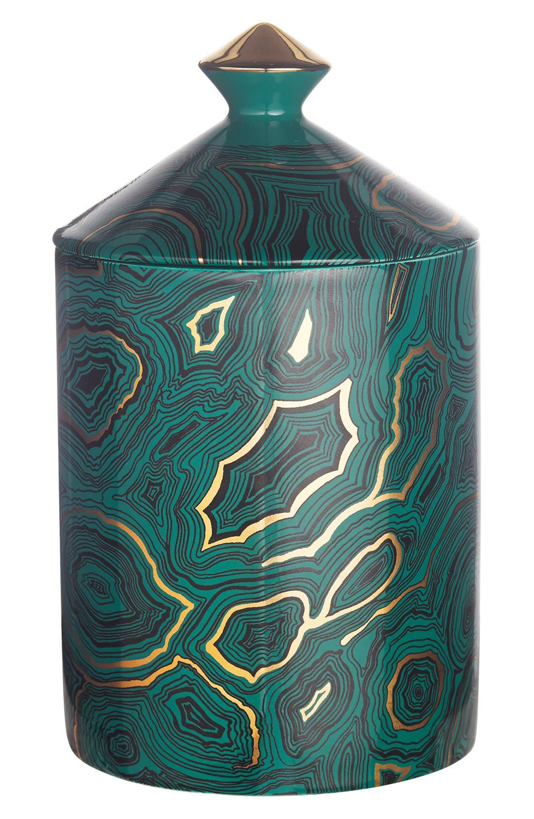 'Malachite' Lidded Candle,                         Main,                         color, No Color