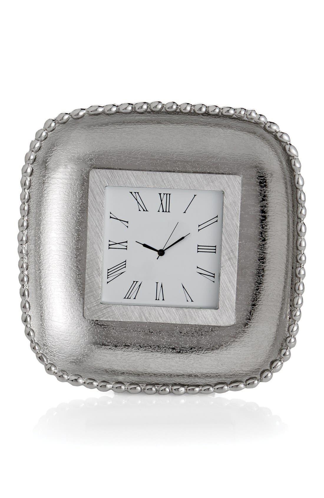 'Molten Frost' Mini Clock,                         Main,                         color, Silver