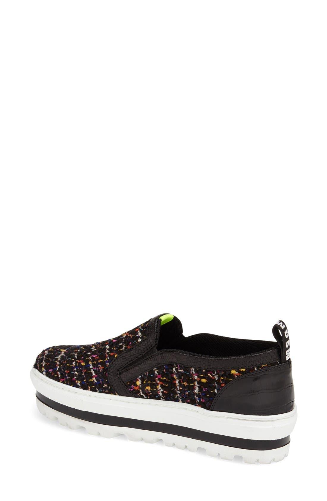 Alternate Image 2  - MSGM Tweed Platform Slip-On Sneaker (Women)