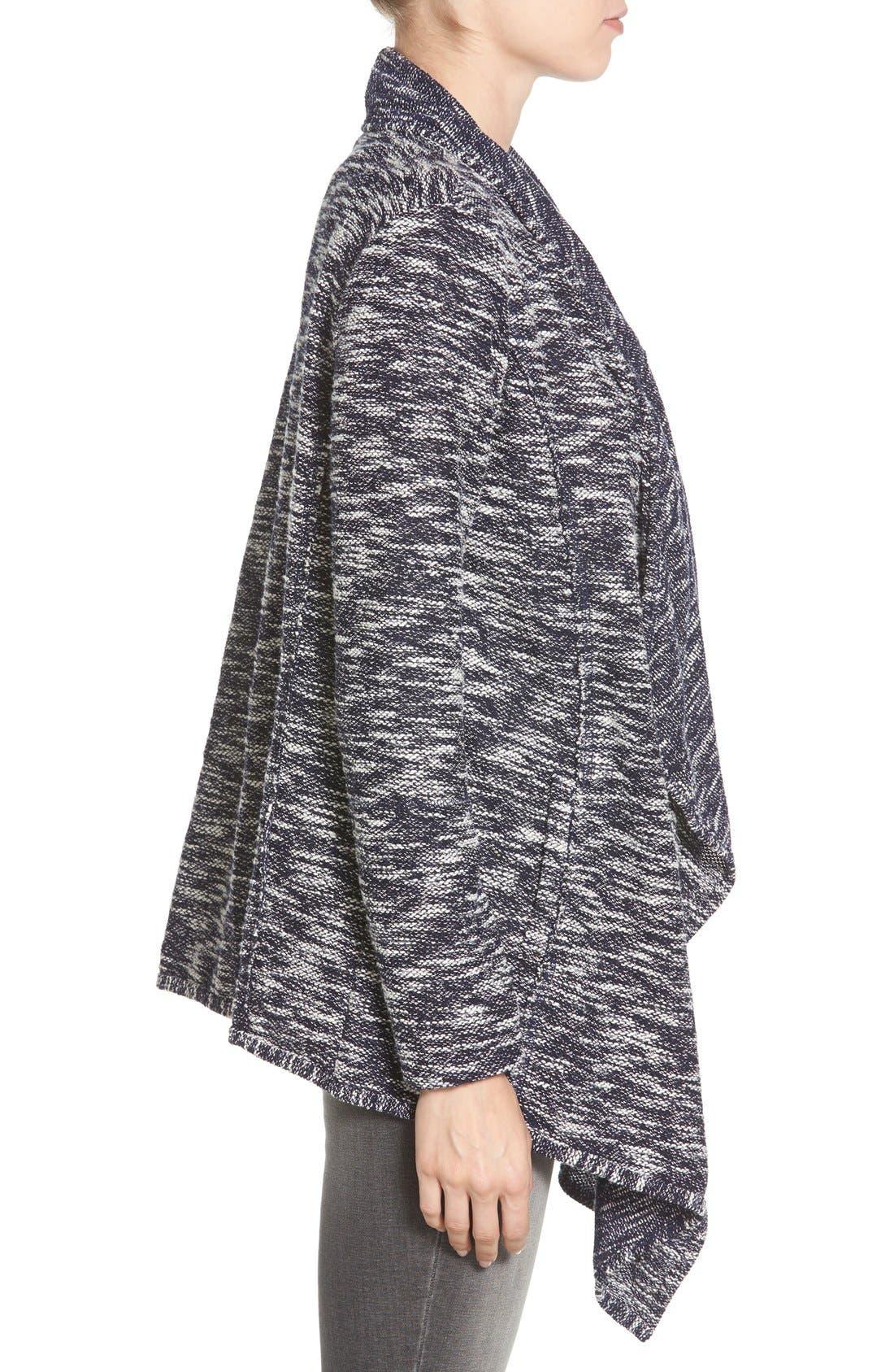 Alternate Image 3  - Caslon® Drape Front Cardigan (Regular & Petite)