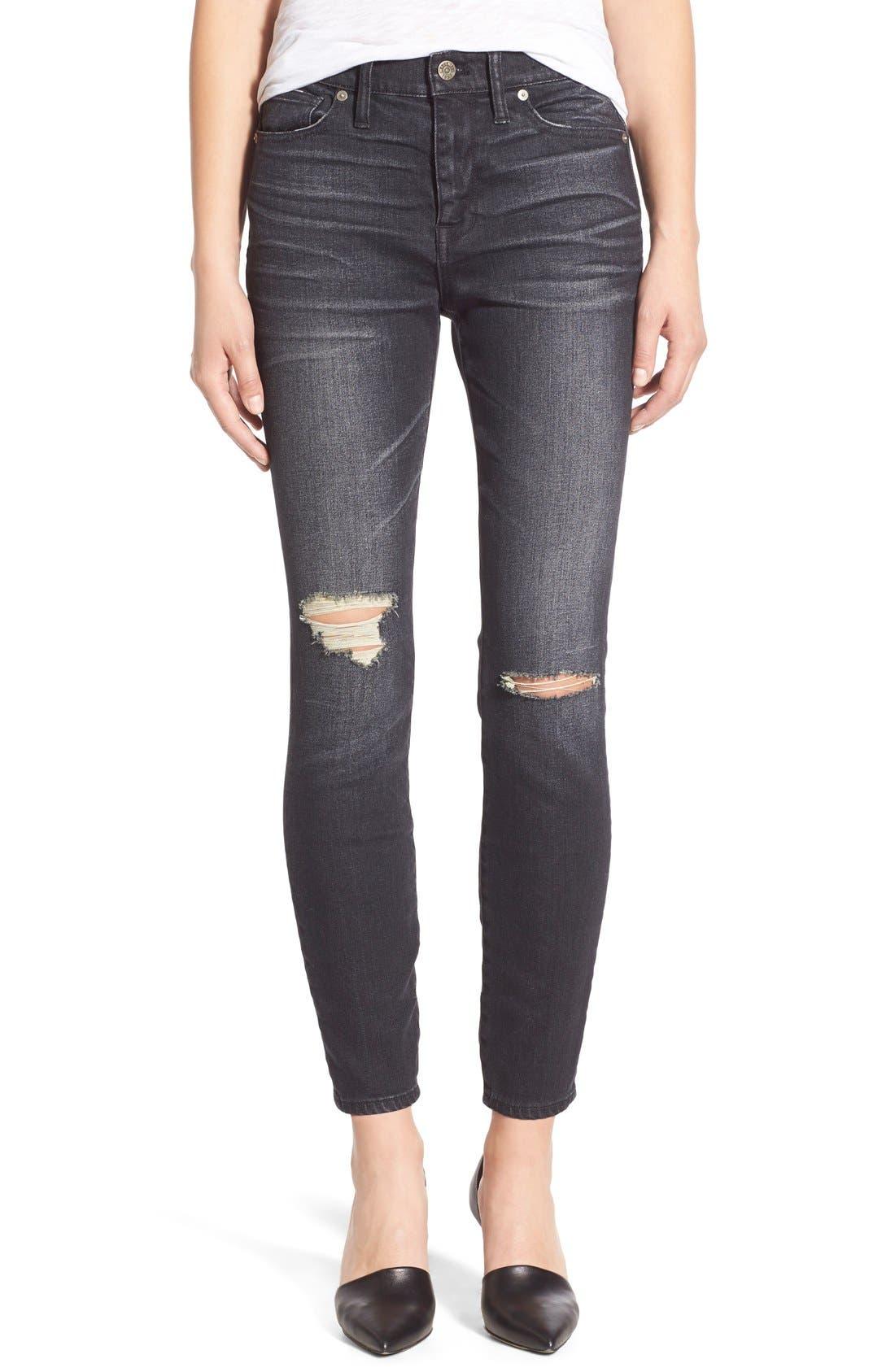 Main Image - Madewell 'High Riser' Skinny Skinny Jeans (Kincaid Wash)