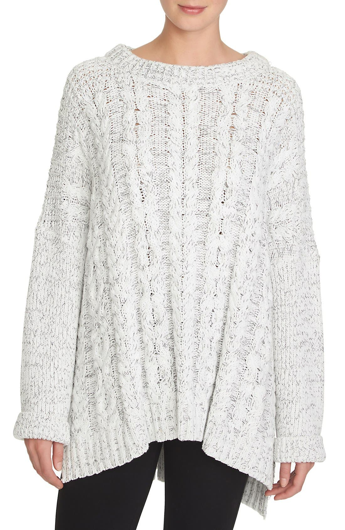 Alternate Image 1 Selected - 1.STATE Cable Knit Poncho Sweater