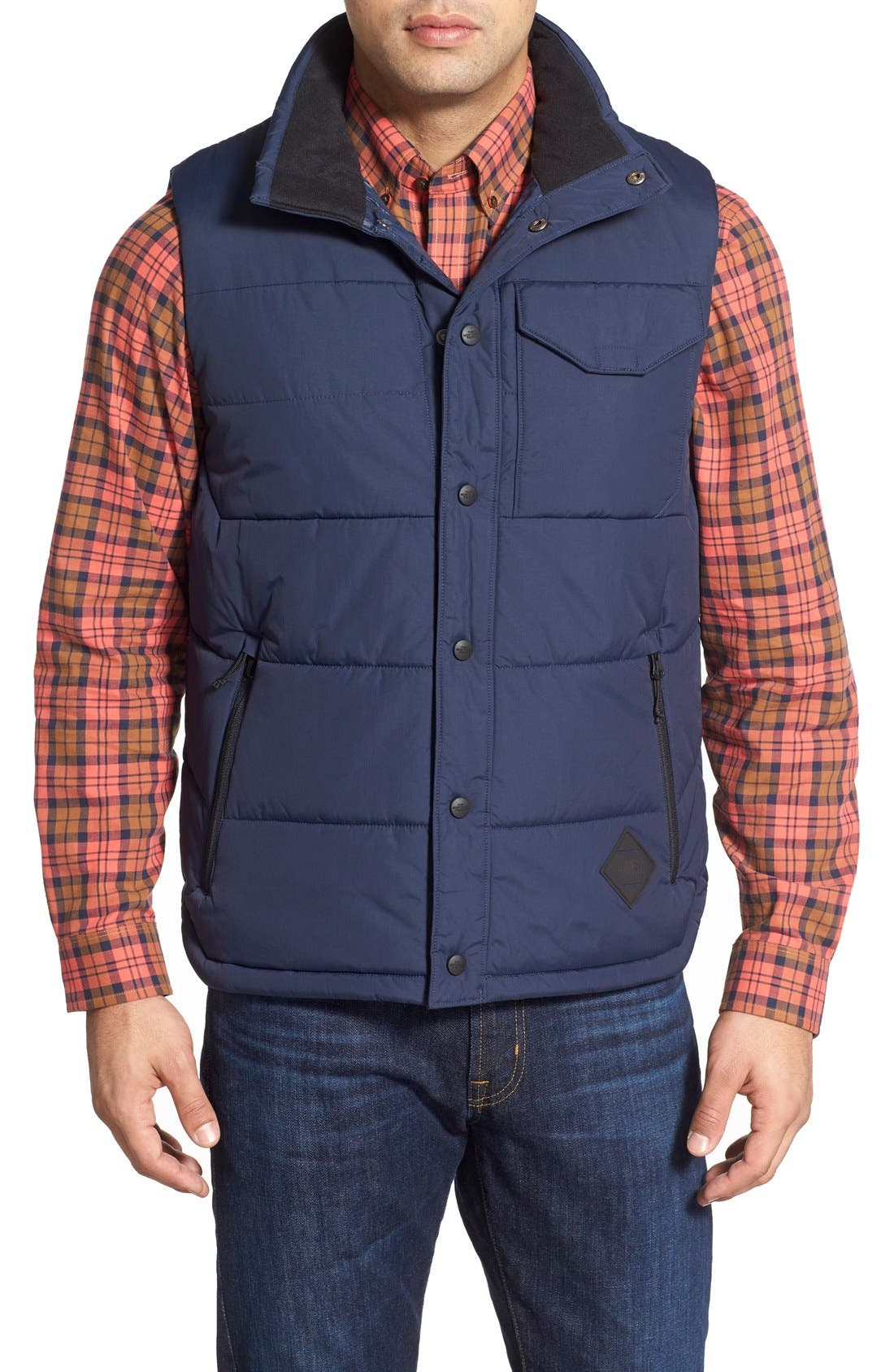 'Patrick's Point' Quilted Vest,                             Main thumbnail 1, color,                             Urban Navy