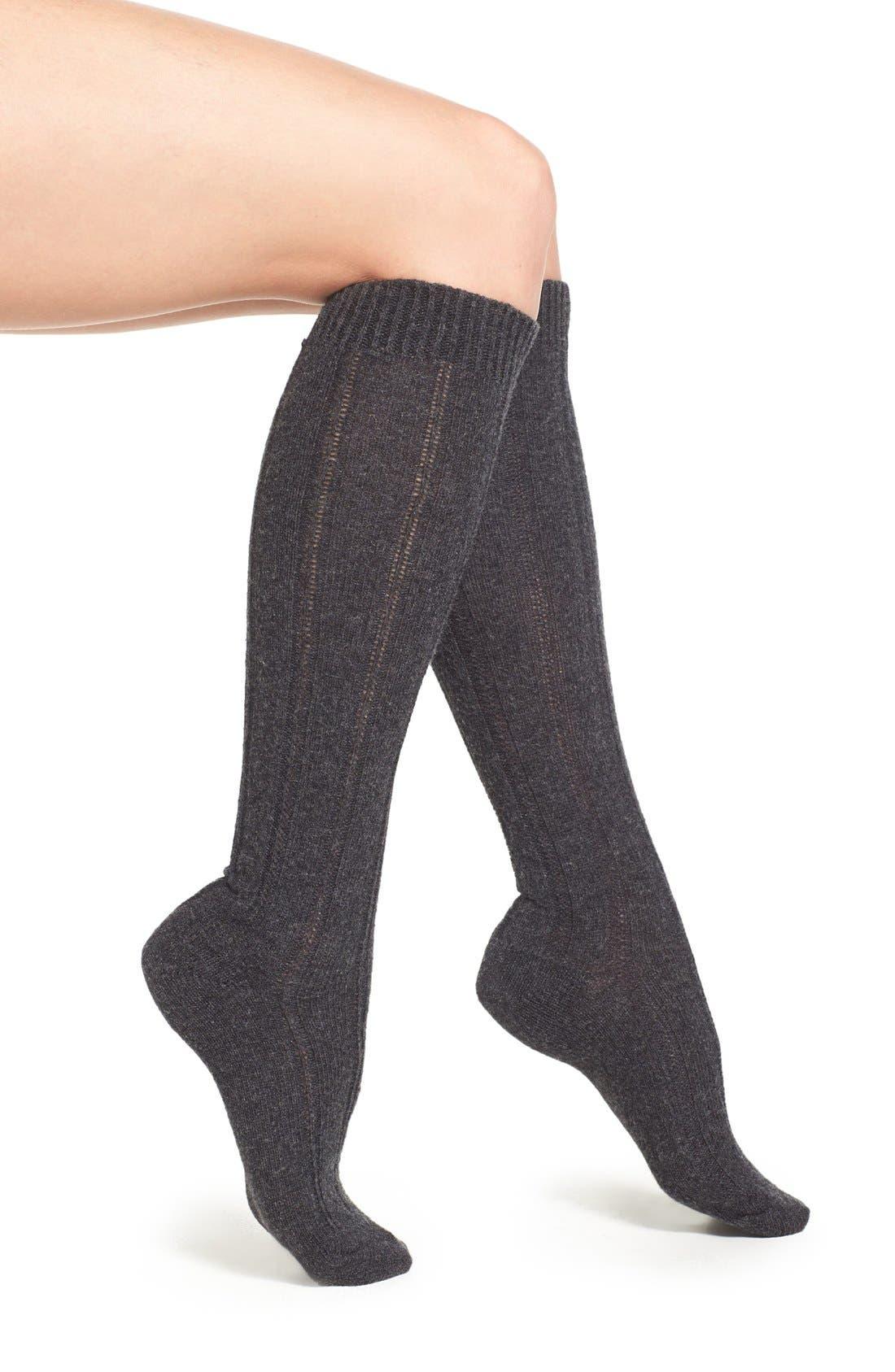 Main Image - B.ella Rib Cashmere Blend Knee Socks